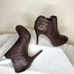 Michael KORS Leather Ankle Boots Stiletto Heels